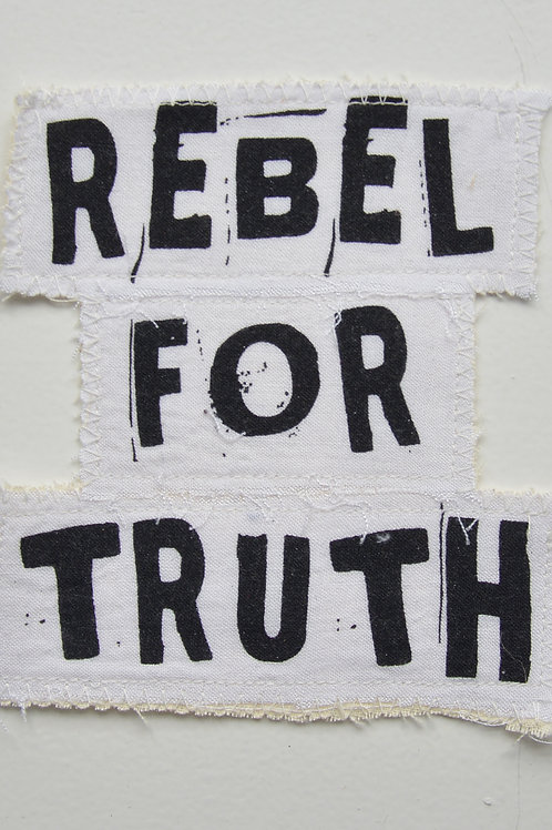 Rebel For Truth White Patch (Medium)