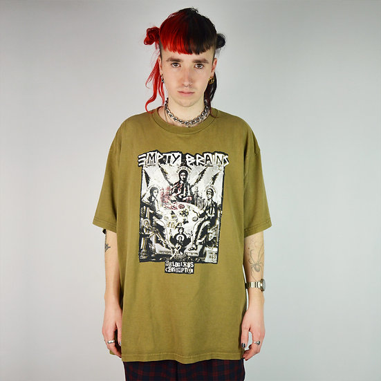 Gambling Angels Overprint Khaki T Shirt
