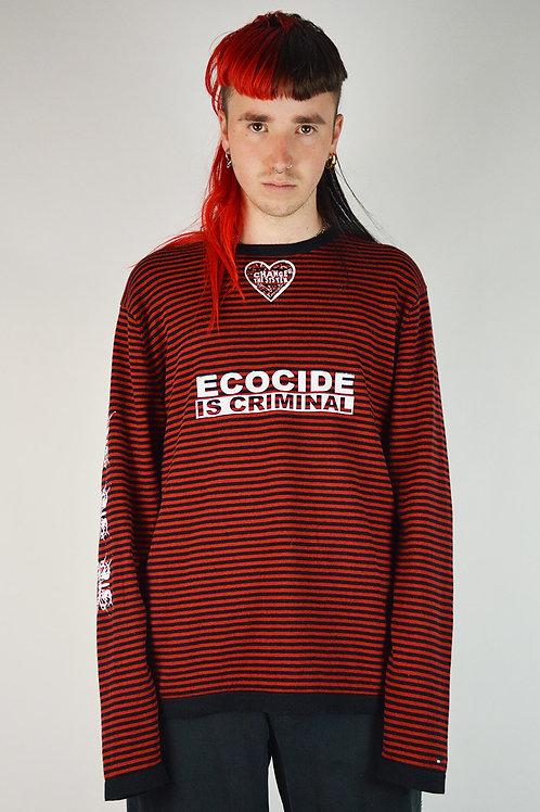 Red Black Striped Knit Jumper