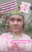 @rainbowcowgirl_ wearing a Angel Brains necklace