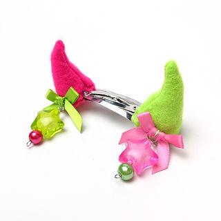Horn hairclips plushie horns sustainable j fashion angel brains kawaii punk