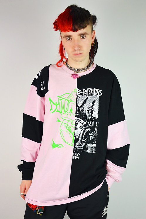 Empty Angel Pink Black Long Sleeve