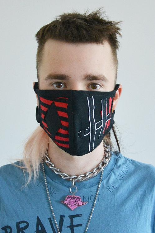 Diamond Stripes Face Mask
