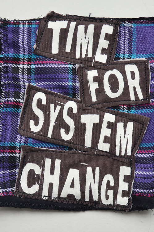 Time For System Change Plaid Patch (Medium)