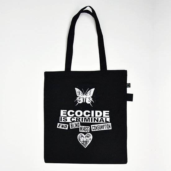 Don't Consume Blind/Teeth Print Tote