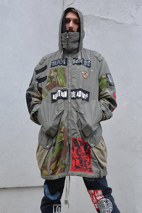 Camo Star Khaki Parka Jacket