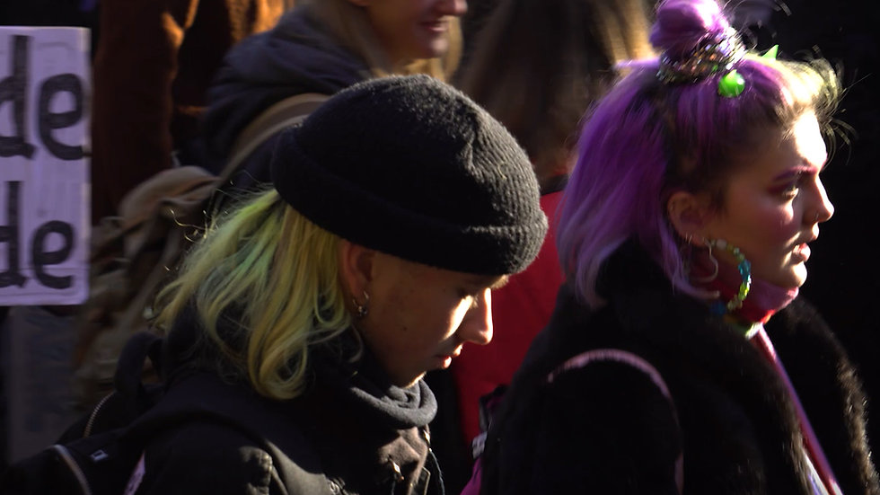 Empty Brains Angel Brains protest march