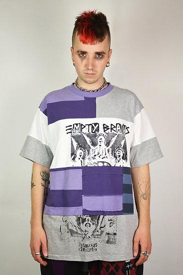 Grey Patchwork T-Shirt