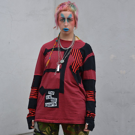 Red Striped Patch Longsleeve