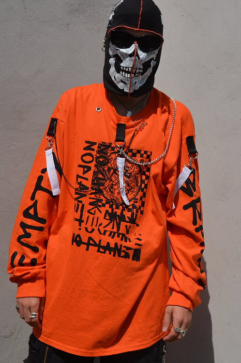NO CHANGE NO PLANET ORANGE LONGSLEEVE REWORK