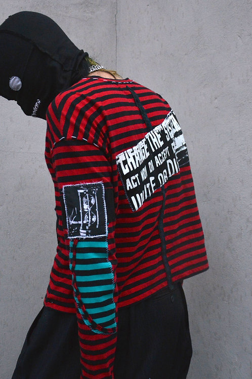 DENNIS PATCHWORK STRIPED LONGSLEEVE