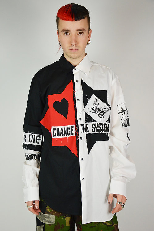Harlequin Split Patch Shirt