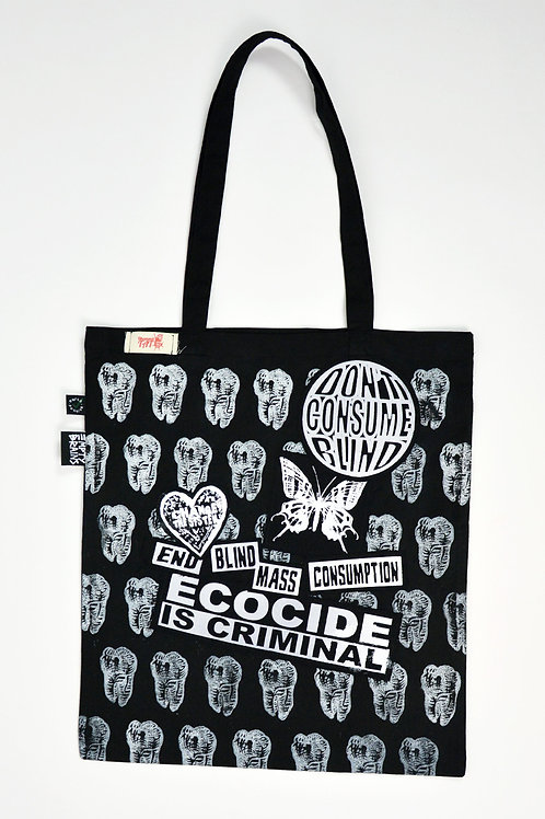 Ecocide Is Criminal/Teeth Print Tote