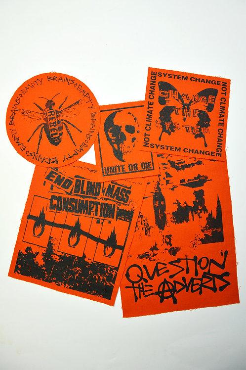 Protest Patches Orange Bundle