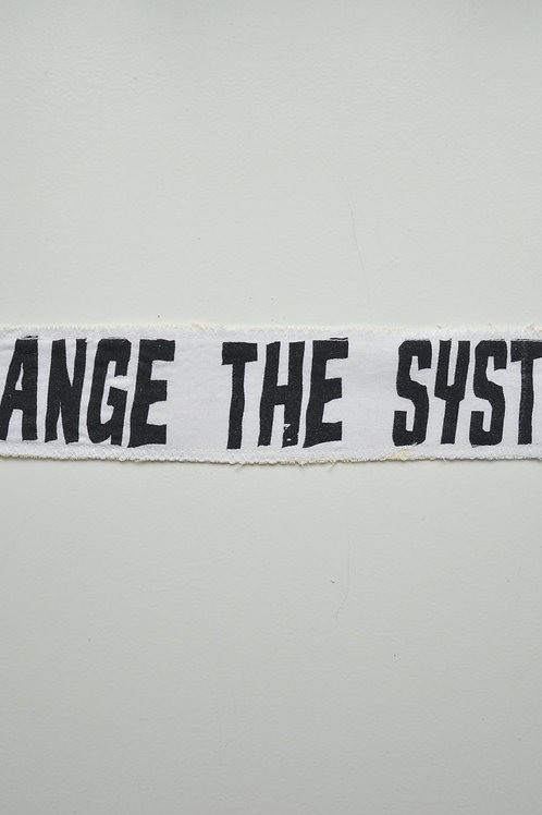 Change The System White Patch (Medium)