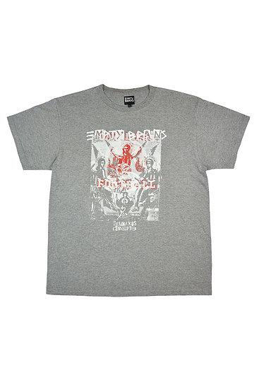 Grey Overprint Gambling Angels T Shirt