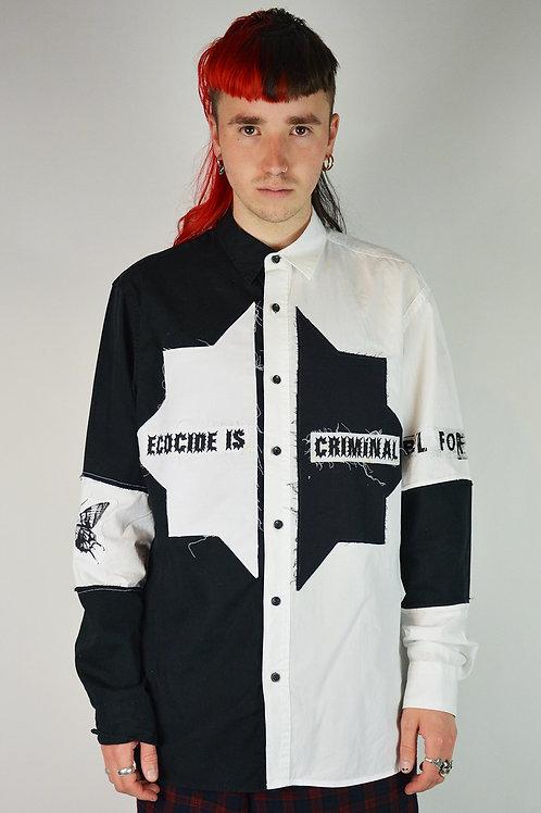 Harlequin Split Patched Shirt