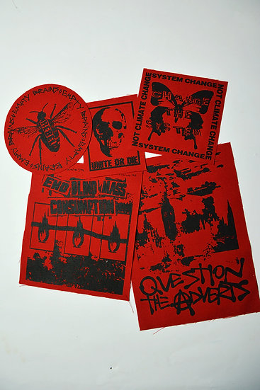 Protest Patches Red Bundle
