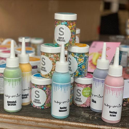 Pastel EasyWriter set - 5 flesjes en 90 gr PaasStrooisel