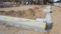 Curing concrete for pavillion