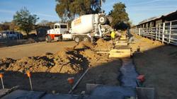 Pouring concrete for pavillion