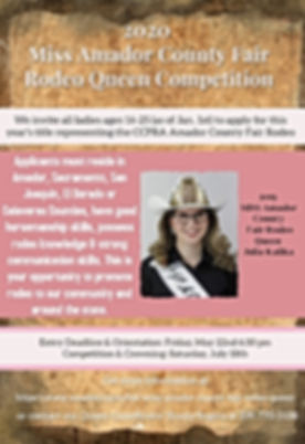 2020 rodeo queen poster - Made with Post