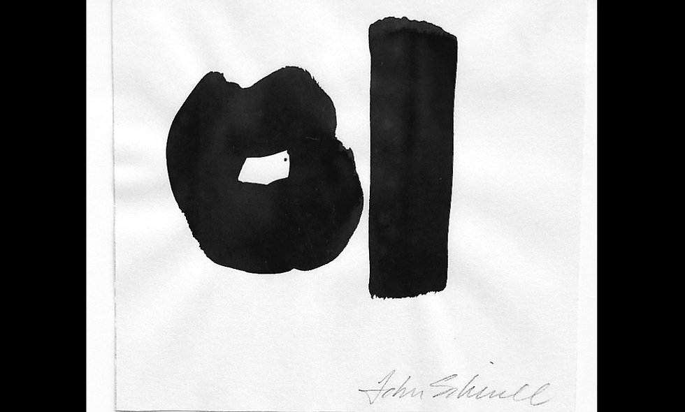 John Robert Siberell, black & white India Ink artwork