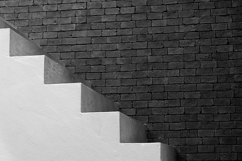 Canva - Concrete Stairs and Brick Wall B