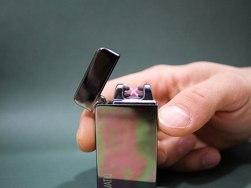 Black Oil Slick Dual Arc Lighter