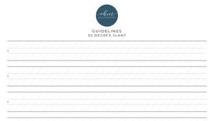 Guidelines - 55 degree slant