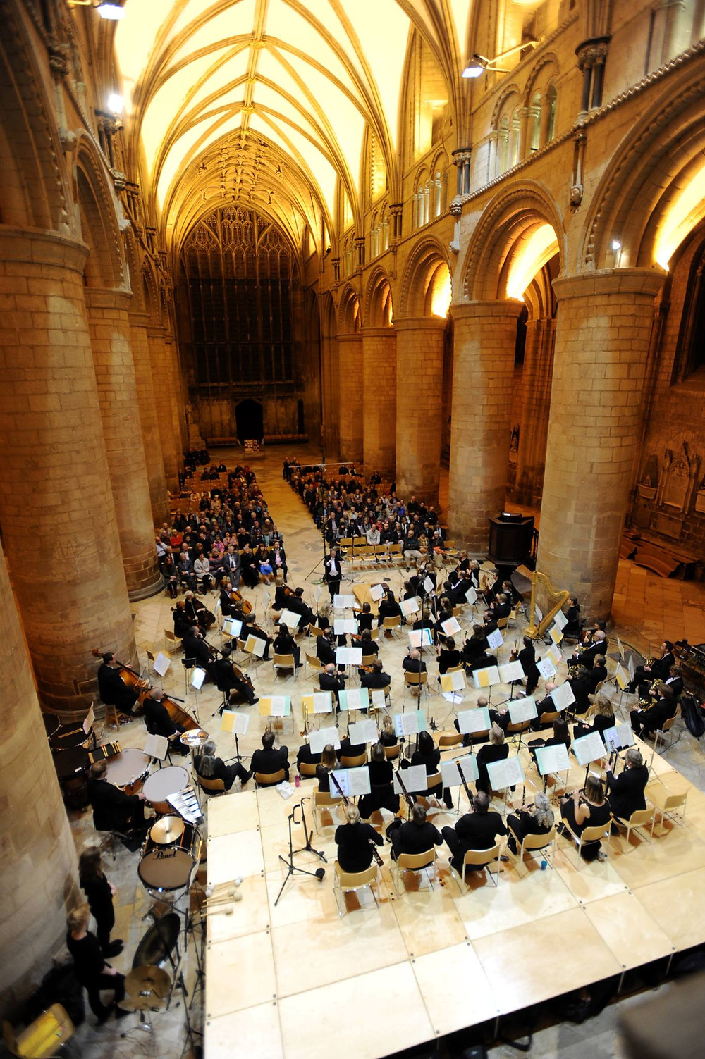 Gloucestershire Symphony Orchestra performing classical concert at Gloucester Cathedral