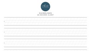 Guidelines - 65 degree slant