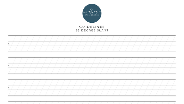 Guidelines - 65 degree slant