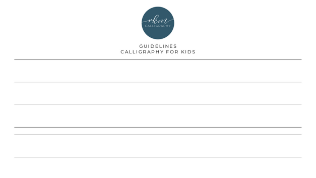 Guidelines - Calligraphy for Kids