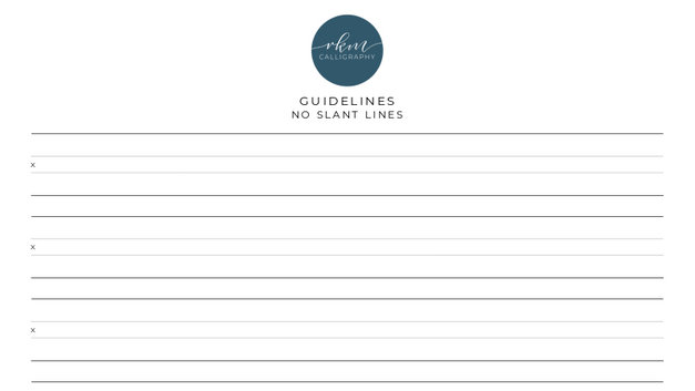 Guidelines - No slant lines