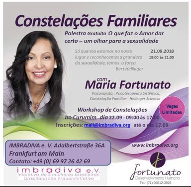 Workshop com psicoterapeuta Maria Fortunato