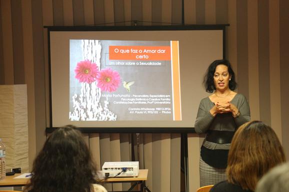 Workshop com psicoterapeuta Maria Fortunato