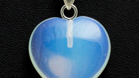 Heart Pendant - Opalite