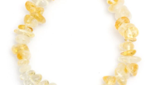 Elasticated Chip Bracelet - Citrine