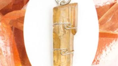 Tangerine Quartz Pendant with chain