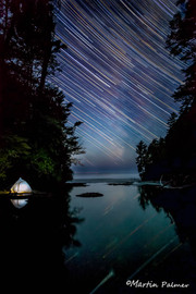 Startrails in the Infinity Pool