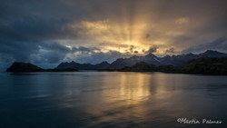 Sunrise over Larsen Point