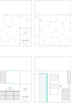Bathroom sketches