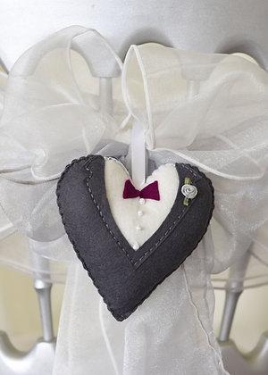 Groom Wedding Heart Keepsake