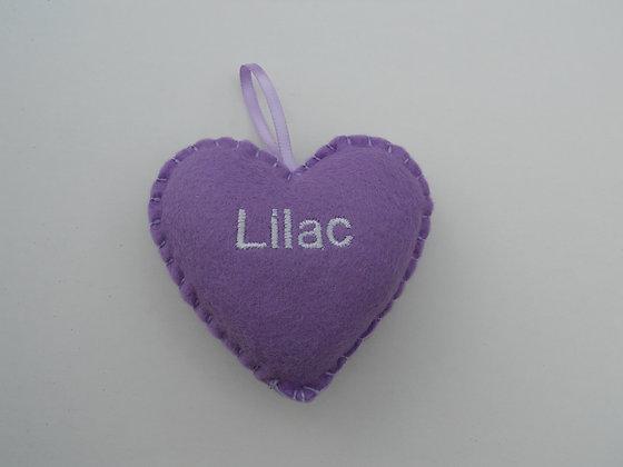 Lilac Hanging Hearts