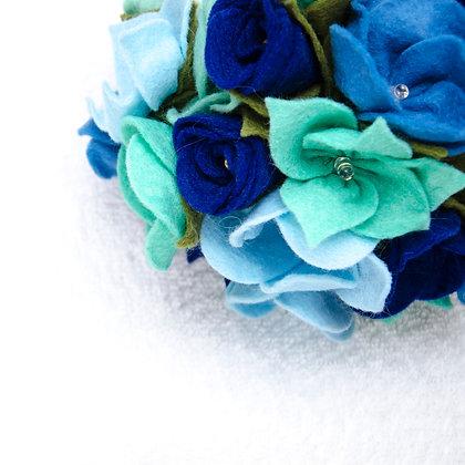 Felt Flower Fairy Lights - Blue