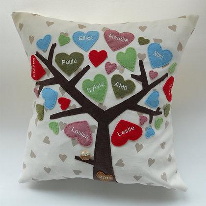 Family Tree Cushion Cover - Confetti