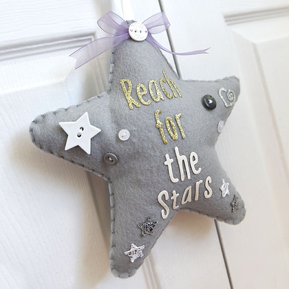 Reach for the Stars Felt Decoration