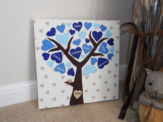 Family Tree Wall Canvas