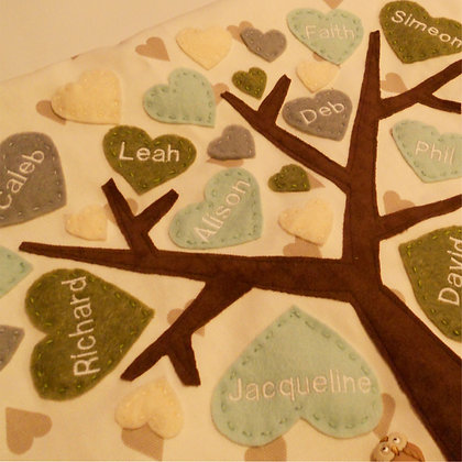 Family Tree Cushion Cover - Olive Grove